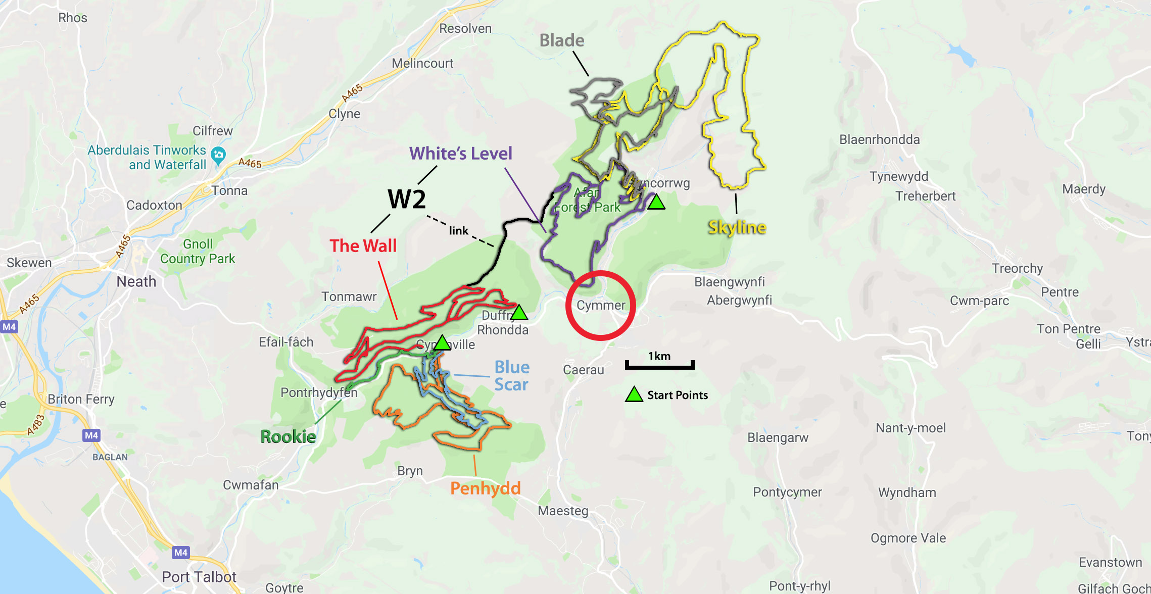 All the Afan Forest Trails