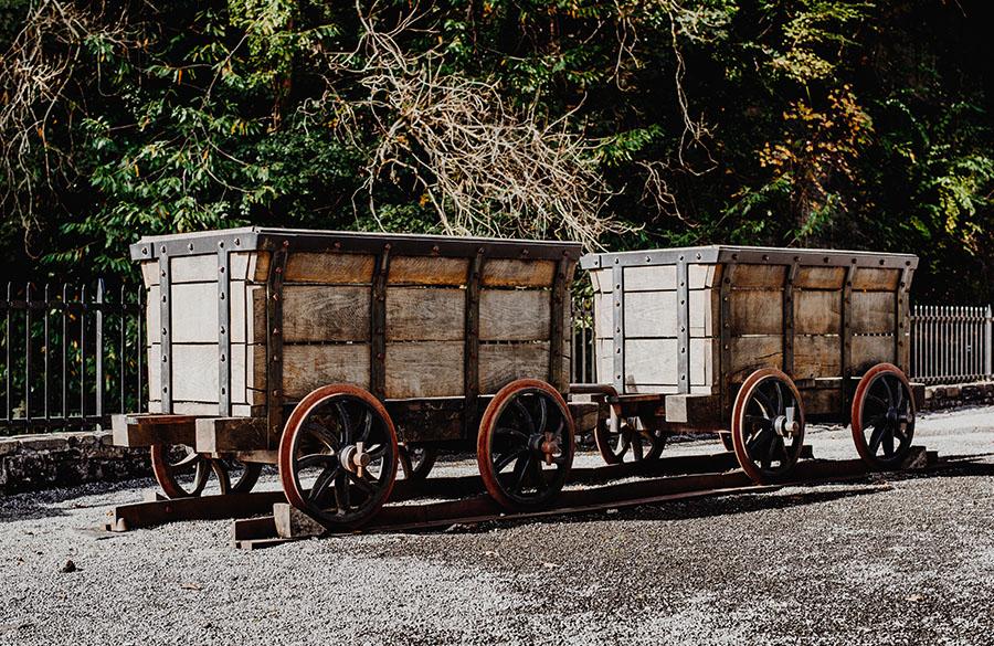 Aberdulais mine carts