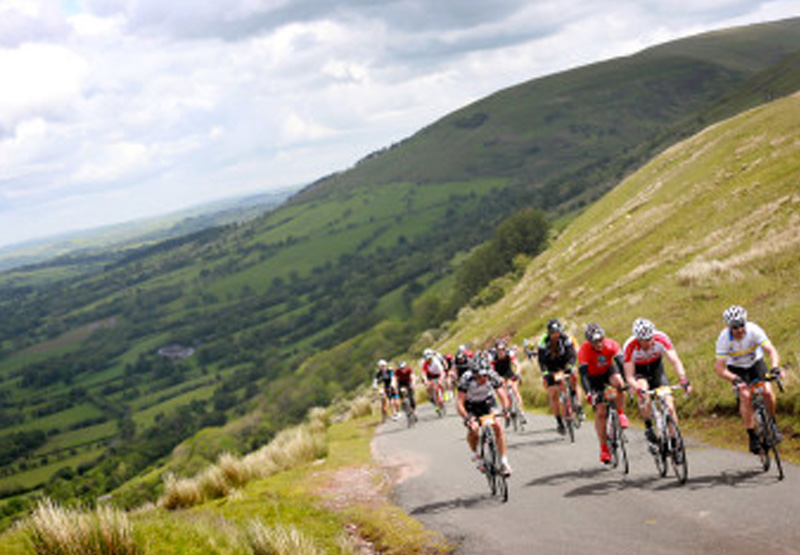 The Dragon Ride passing through Afan Valley